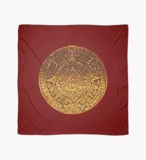 Golden Mayan Calendar Amulet Scarf