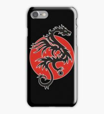 Sun Dragon With Pearl Black Red White iPhone Case/Skin