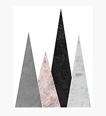 Mountains pink and black Photographic Print