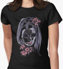 Girl Sugar Skull Women's Fitted T-Shirt