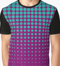 Modern techno shrinking polka dots opal and strong fuchsia Graphic T-Shirt