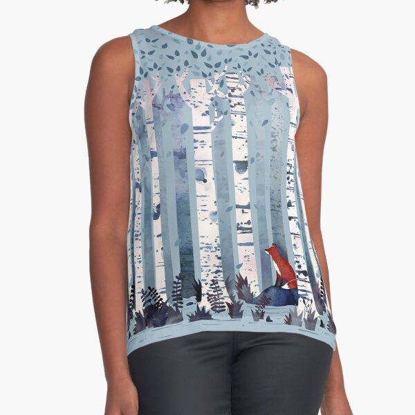 The Birches (in Blue) Sleeveless Top