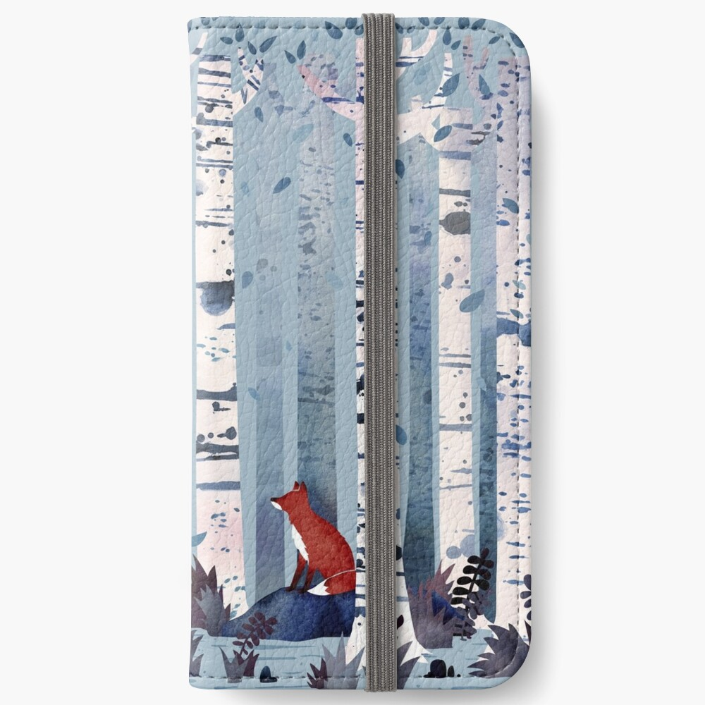 The Birches (in Blue) iPhone Wallet