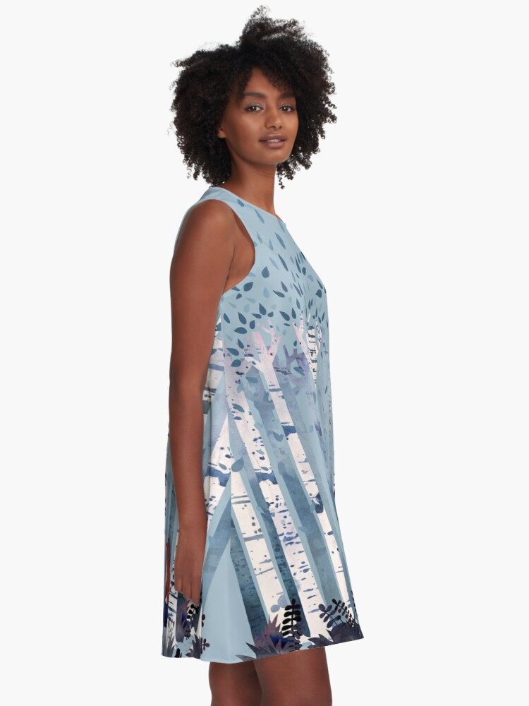 Alternate view of The Birches (in Blue) A-Line Dress
