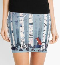 The Birches (in Blue) Mini Skirt