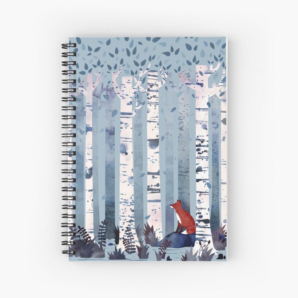 The Birches (in Blue) Spiral Notebook