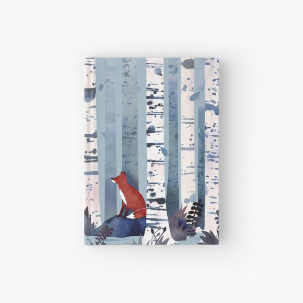 The Birches (in Blue) Hardcover Journal
