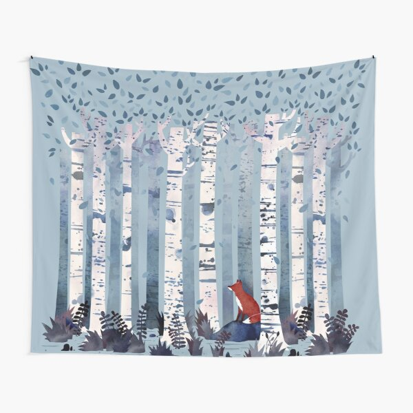 The Birches (in Blue) Tapestry