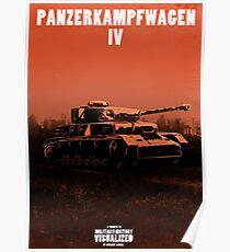 Panzerkampfwagen IV - Stylized (Design & Art: Nuclear Jackal) Poster