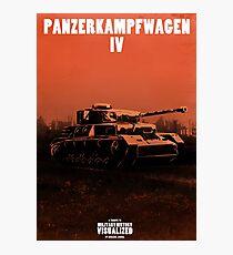 Panzerkampfwagen IV - Stylized (Design & Art: Nuclear Jackal) Photographic Print