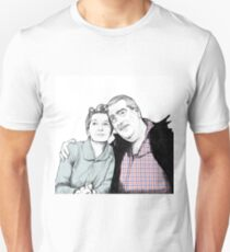 Stan and Hilda Ogden pencil drawing Coronation Street CORRIE T-Shirt