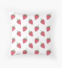 Strawberry print Throw Pillow