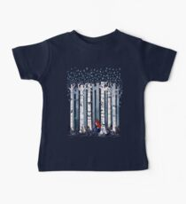 Die Birken (in Blau) Baby T-Shirt