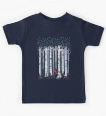 Die Birken (in Blau) Kinder T-Shirt