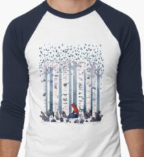 The Birches (in Blue) Men's Baseball ¾ T-Shirt