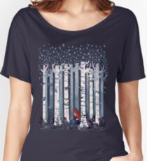 The Birches (in Blue) Women's Relaxed Fit T-Shirt