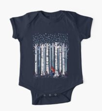 The Birches (in Blue) One Piece - Short Sleeve