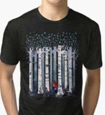 The Birches (in Blue) Tri-blend T-Shirt