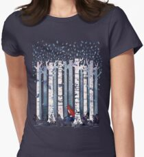The Birches (in Blue) Women's Fitted T-Shirt