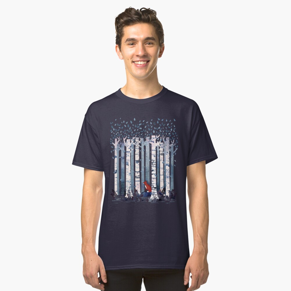 The Birches (in Blue) Classic T-Shirt Front