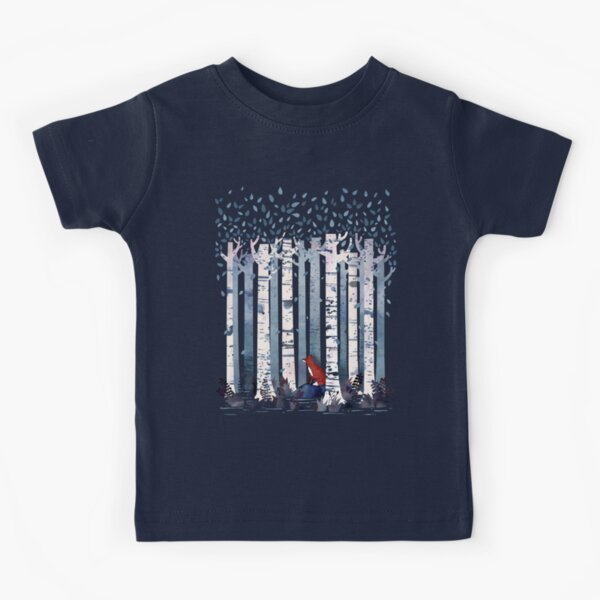 The Birches (in Blue) Kids T-Shirt