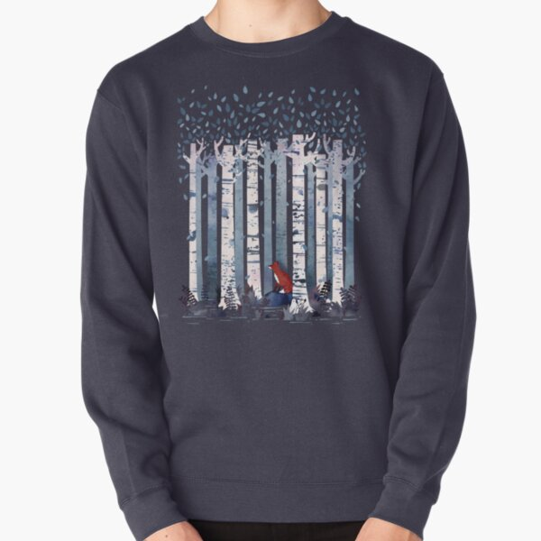 The Birches (in Blue) Pullover Sweatshirt