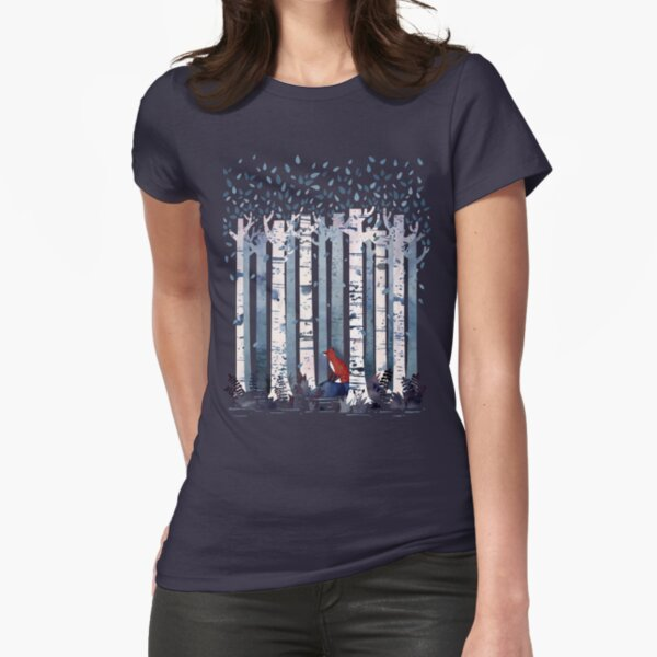 The Birches (in Blue) Fitted T-Shirt