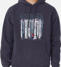 The Birches (in Blue) Pullover Hoodie