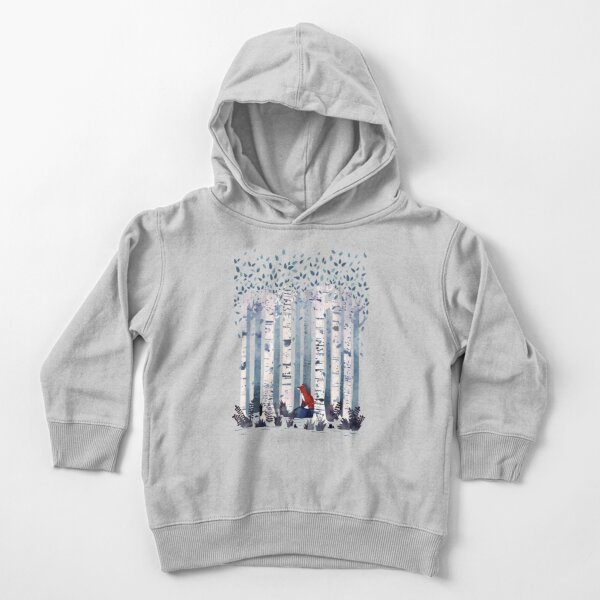 The Birches (in Blue) Toddler Pullover Hoodie