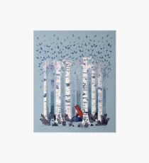 The Birches (in Blue) Art Board