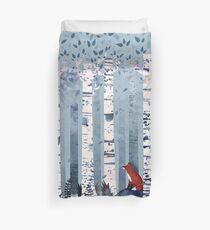 The Birches (in Blue) Duvet Cover