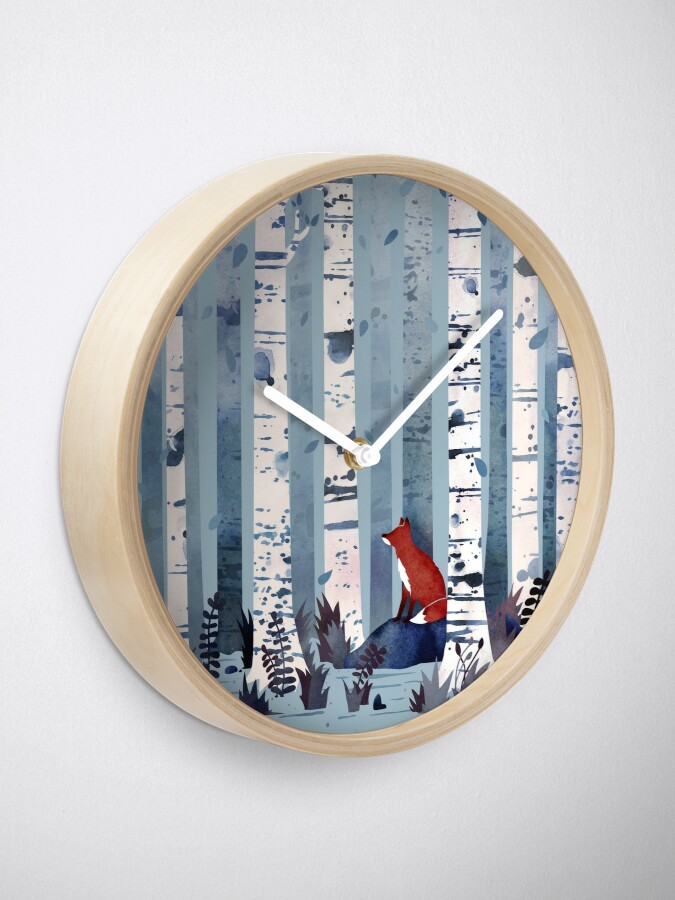 Alternate view of The Birches (in Blue) Clock