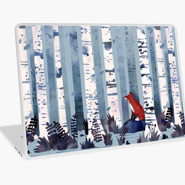 The Birches (in Blue) Laptop Skin