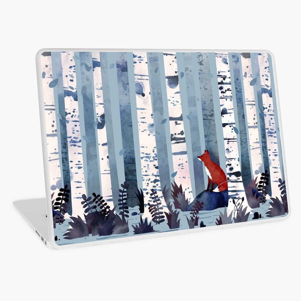 Die Birken (in Blau) Laptop Folie