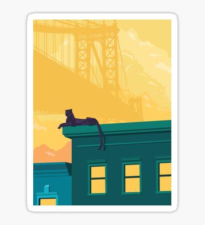 Urban jaguar Sticker