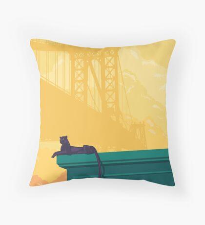 Urban jaguar Throw Pillow