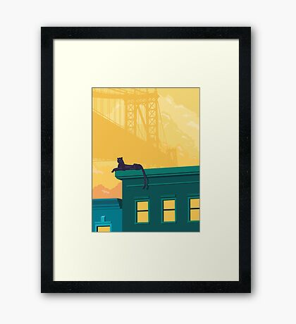 Urban jaguar Framed Print