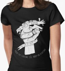Your Heart Is A Muscle Reverse  Women's Fitted T-Shirt