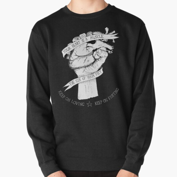 Your Heart Is A Muscle Reverse  Pullover Sweatshirt