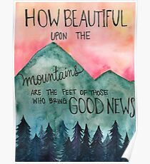 Beautiful upon the Mountains Poster