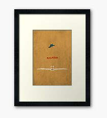 Ghibli Minimalist 'Nausicaä of the Valley of the Wind' Framed Print