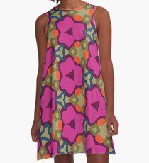 Flower-Caleidoscope A-Line Dress