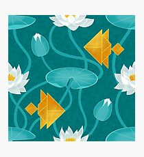 Tangram goldfish and water lilies Photographic Print