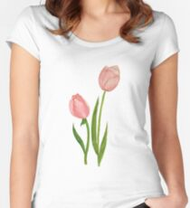 Too Little Tulips Women's Fitted Scoop T-Shirt