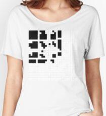 Monochrome Pixels Women's Relaxed Fit T-Shirt