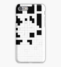 Monochrome Pixels iPhone Case/Skin