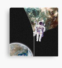 ZIPPER FUN - Astronaut Home Sweet Home Canvas Print