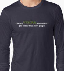 Being Vegan Long Sleeve T-Shirt