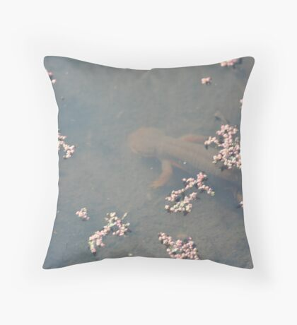 California Newts 1 Throw Pillow