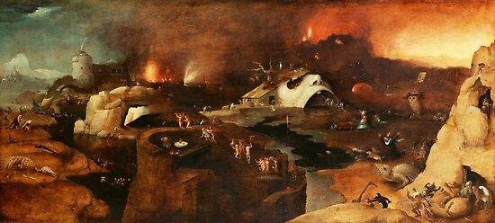 Christi Abstieg in die Hölle nach Hieronymus Bosch von Vintage Designs